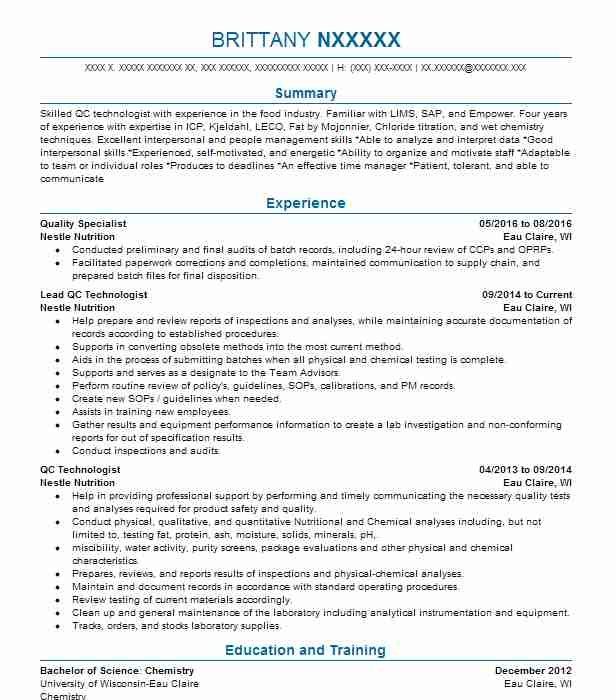 analytical chemist resume example american environmental testing
