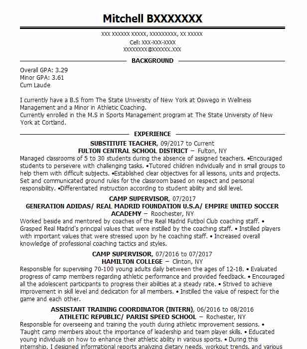 public speaking resume example  california parks and