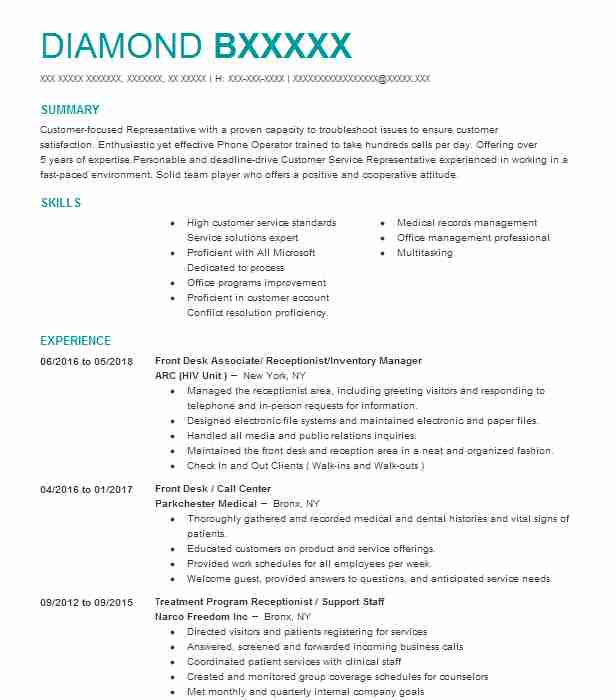 Hair Salon Receptionist Resume Sample | LiveCareer