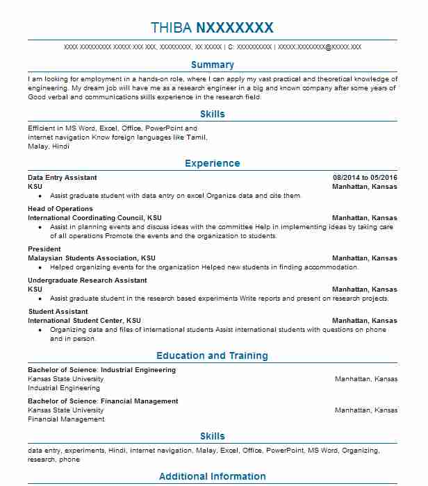 15 resumes matching industrial engineers resume samples in manhattan - Industrial Engineering Resume Samples