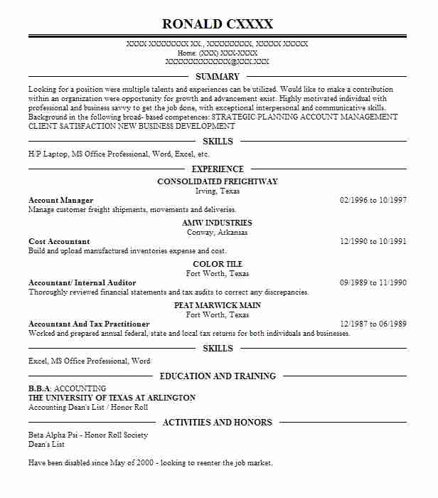 account manager resume objectives resume sample