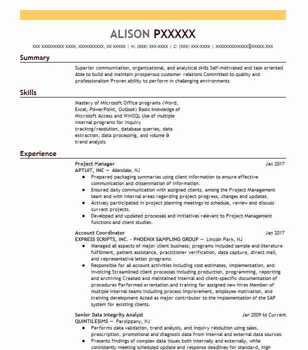 Find Resume Examples in Parsippany, NJ | LiveCareer