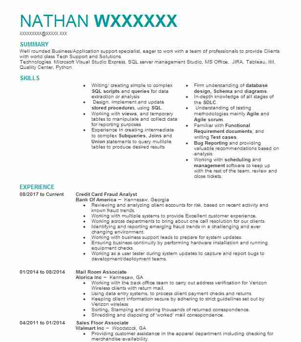 credit card fraud specialist resume example the golden 1