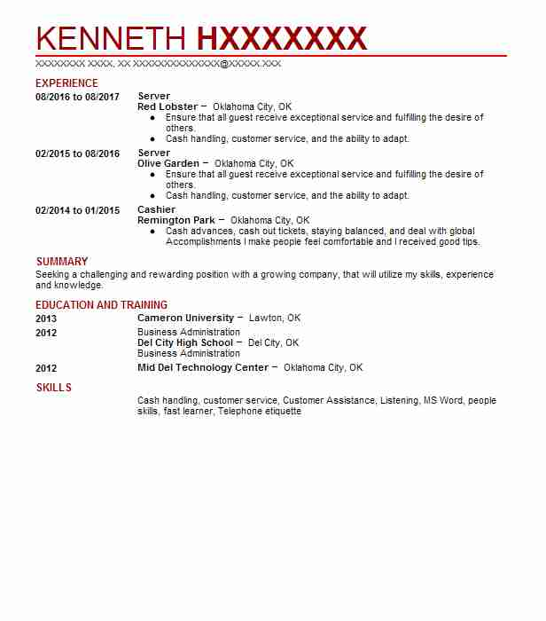 find resume examples in oklahoma city  ok