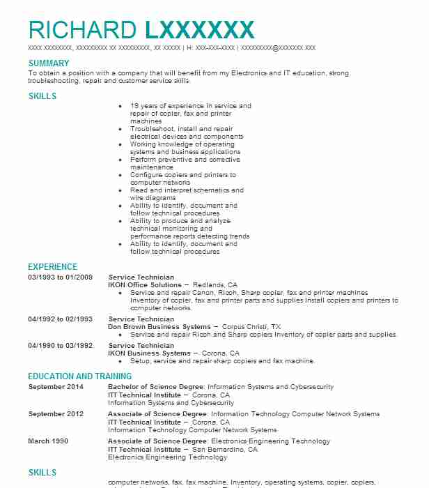 appliance repair technician resume example 1 800 appliance