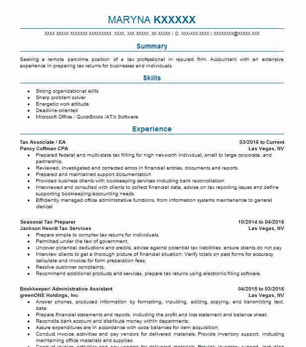 400 Accountants (Accounting And Finance) Resume Examples in Nevada ...