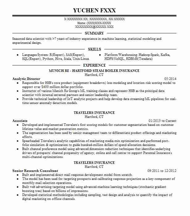 Analytic Director  Data Scientist Resume