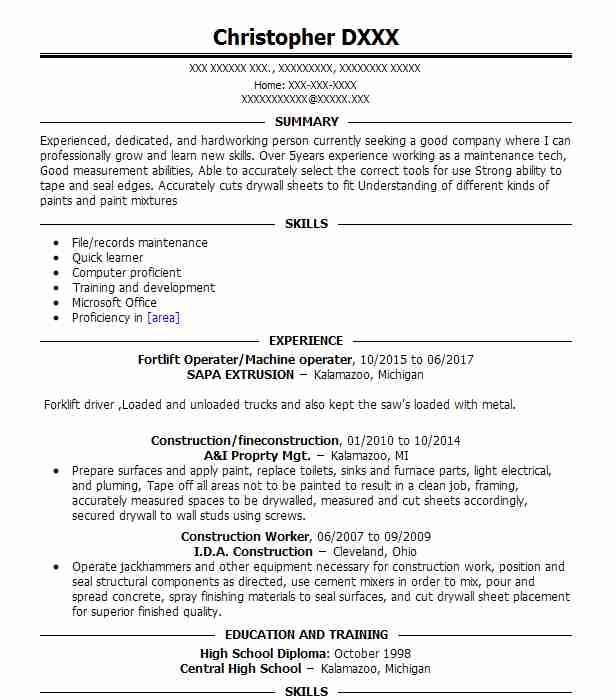 Volunteer Camp Host Resume Example (Cal.State Parks) - Modesto ...
