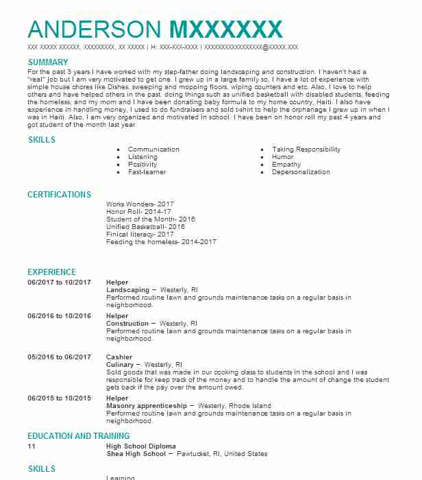 Helper resume sample helper resumes livecareer create my resume altavistaventures Choice Image