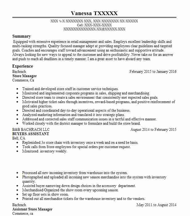 general manager resume example forever 21 rodeo california