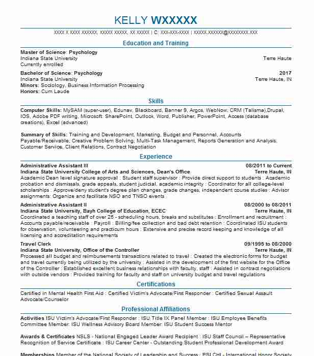 Administrative Assistant III