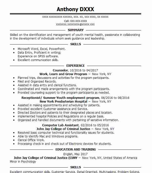 Create My Resume  Criminal Justice Resume Objective