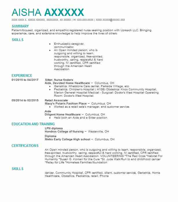 registered nurses resume examples nursing resumes livecareer