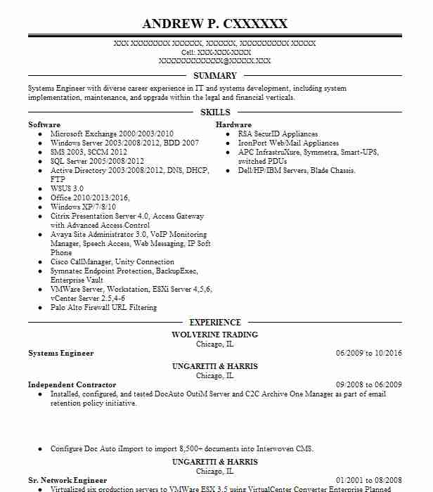 senior it infrastructure engineer resume example  dell emc
