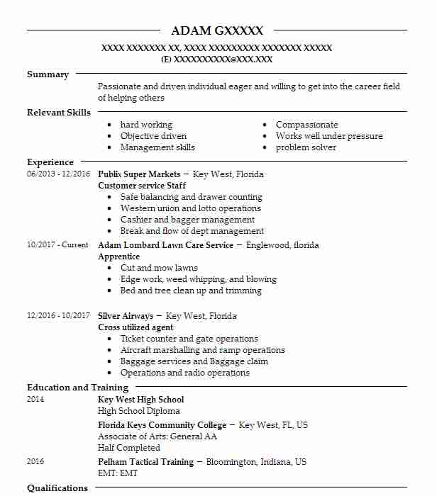 Create My Resume  Lineman Resume