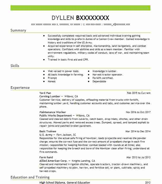 find resume examples in willows  ca