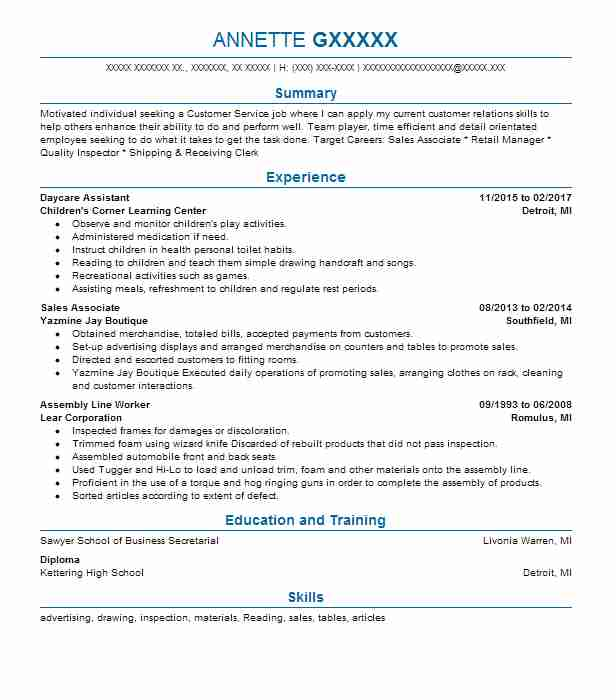 product life cycle associate resume example victoria s secret