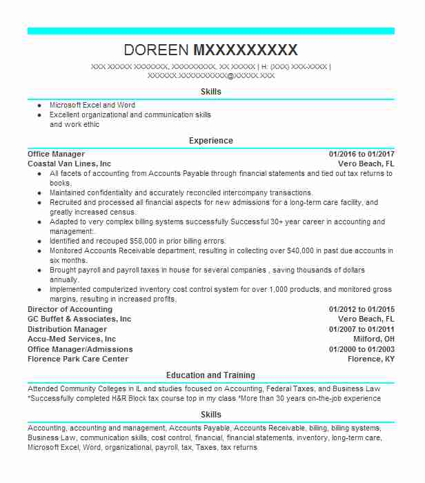 Payroll Bookkeeper Resume Example (Ecloud Accounting) - Frenchtown ...