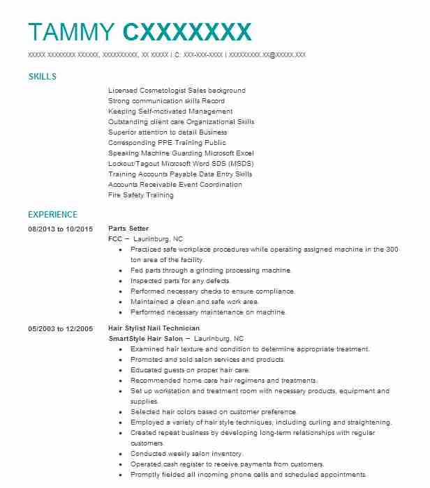Hair Stylist Resume Sample | No Experience Resumes | LiveCareer