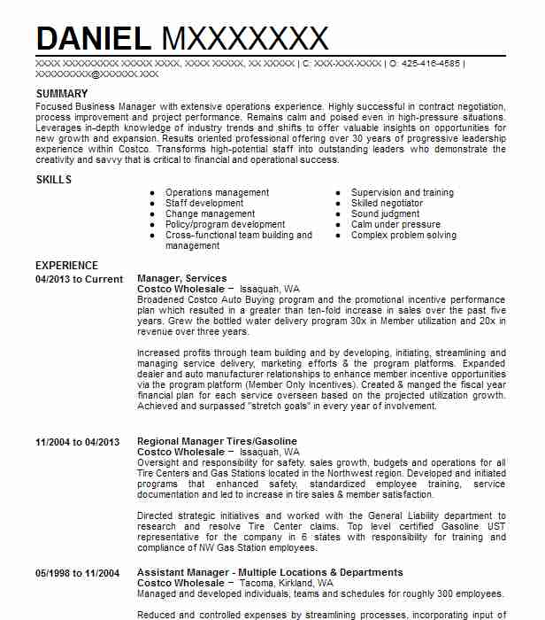 project manager  customer services resume example american