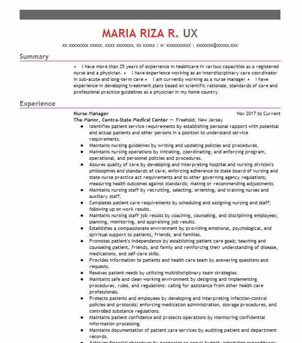 similar resumes - Certified Nurse Midwife Resume