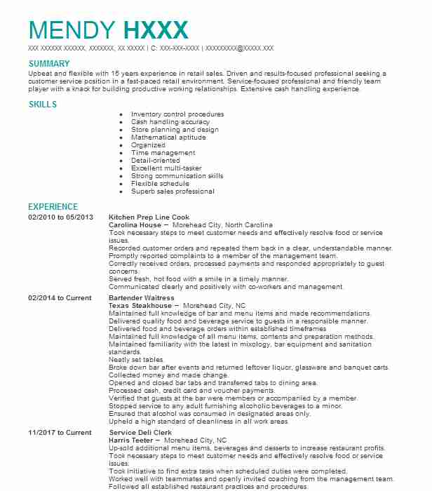 find resume examples in newport  nc