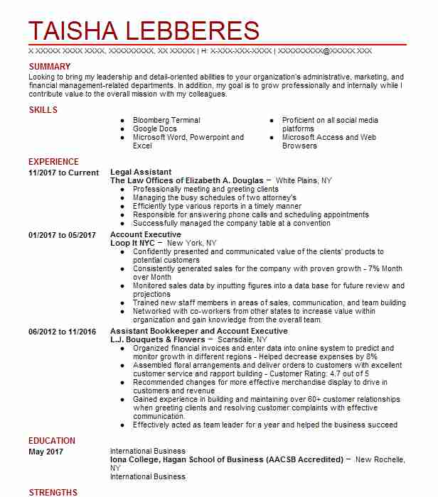 bookkeeper resume sample no experience resumes livecareer