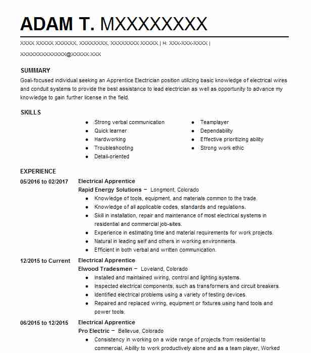 155 Extraction And Mining Resume Examples in Colorado | LiveCareer