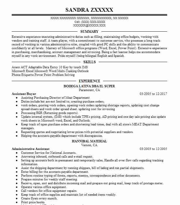 Buyer Resume Sample | Sales Resumes | LiveCareer