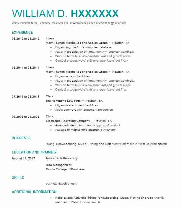 Create My Resume  Electronic Resume