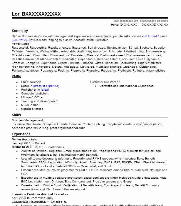 Senior Associate  Video Producer Resume