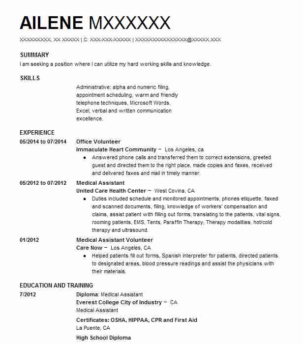 Create My Resume  Sample Volunteer Resume