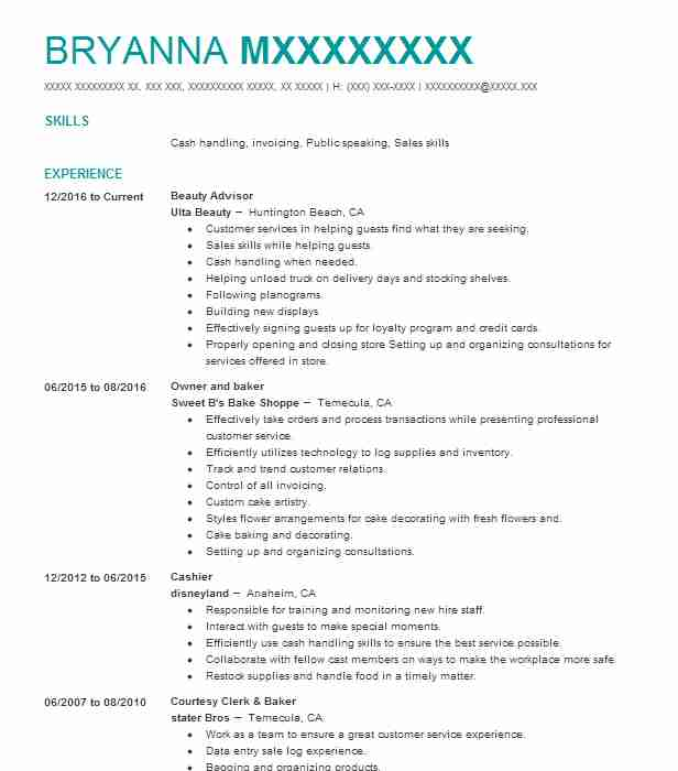 Create My Resume  Baker Resume