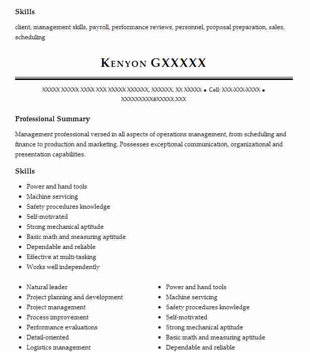 Operations Manager Objectives | Resume Objective | LiveCareer