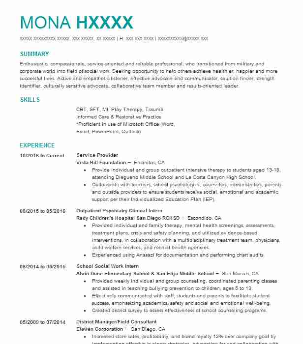 It Consultant Managed Service Provider Resume Example