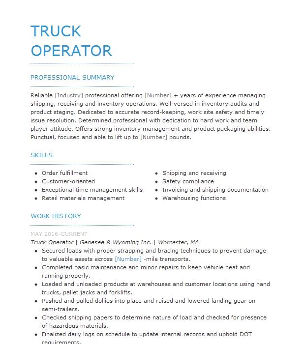Vacuum Truck Operator Resume Example Basic Energy Services
