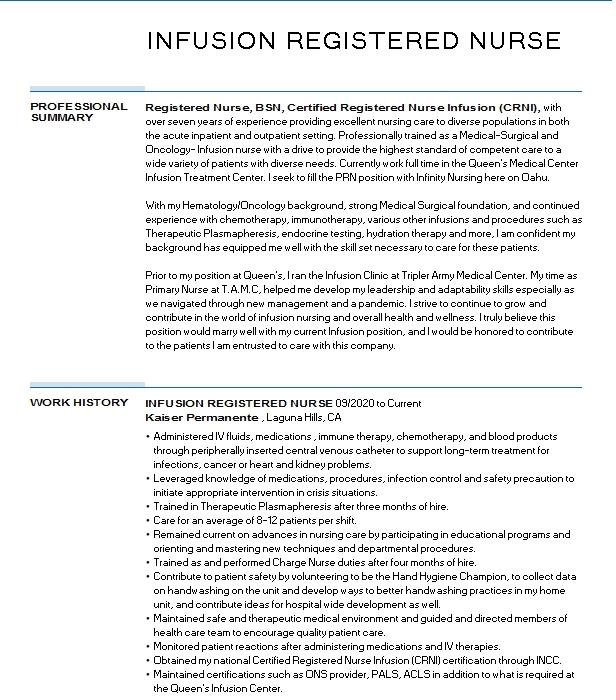 Medical Surgical Nurse Resume Example Resumes Misc Livecareer