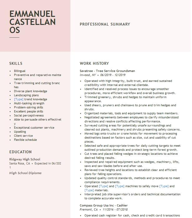 groundsman resume example cei electrical contractors