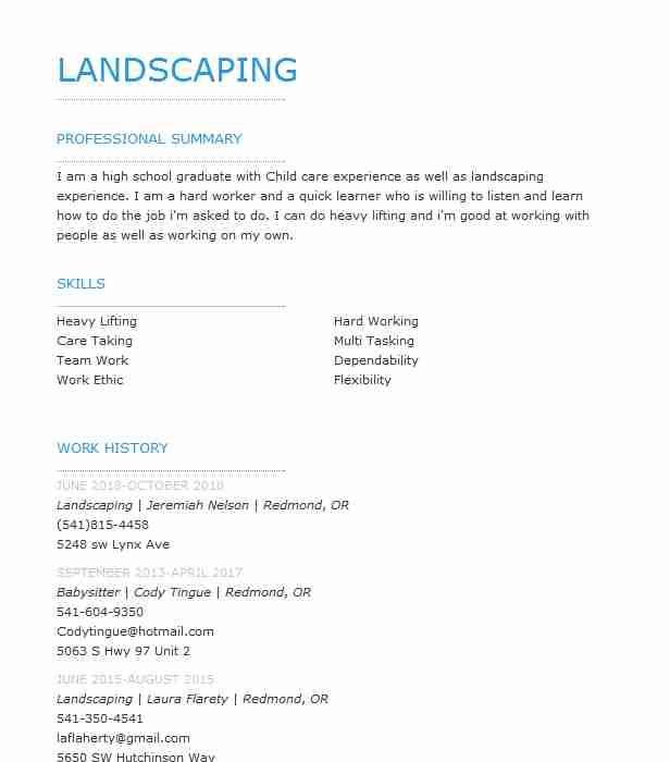 landscaping objectives
