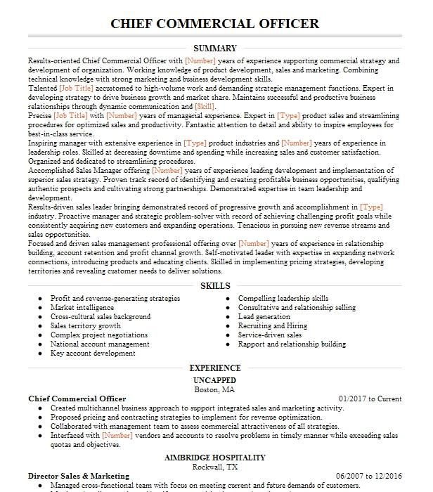 chief commercial officer resume example axispoint  inc