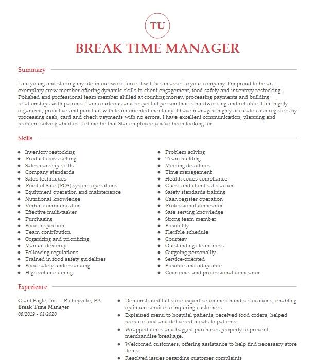 career break 2011  2017 resume example career break