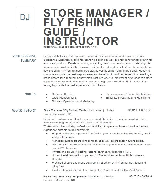 fly fishing guide resume example north fork ranch guide
