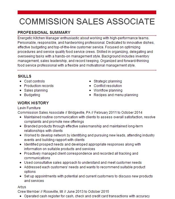commission sales associate resume example nordstrom