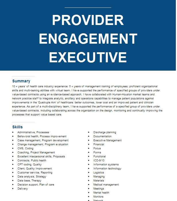 service delivery executive  engagement manager resume