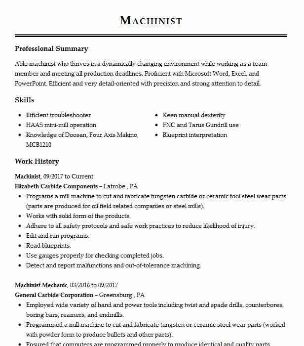 find resume examples in youngwood  pa