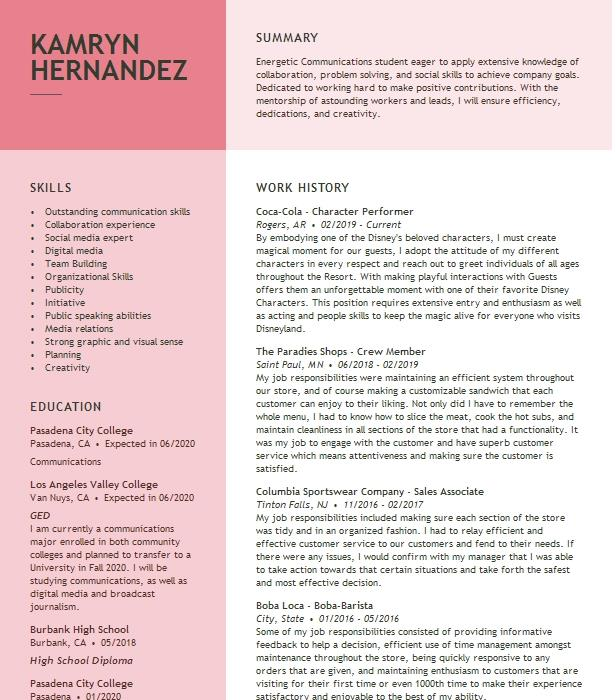 Character Reference Resume Example Prof Fe Edith Oronico Irvine