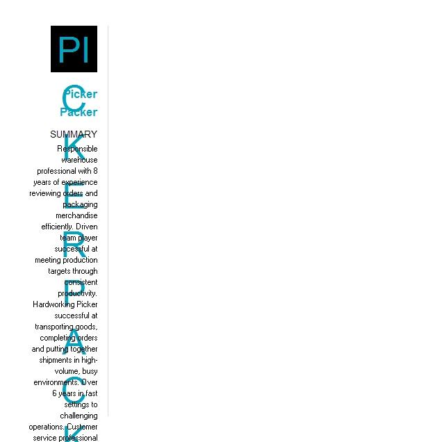 picker and packer resume example company name  athens