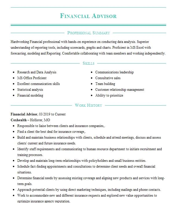 financial advisor resume example merrill lynch wealth