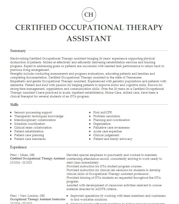 Occupational Therapy Cover Letter Examples from resumesearchstorage.blob.core.windows.net