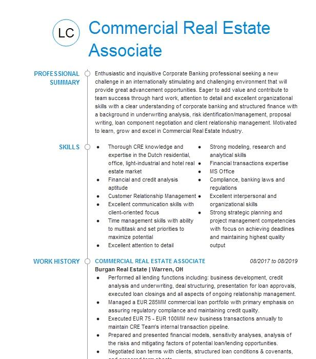 commercial real estate underwriter resume example pnc bank